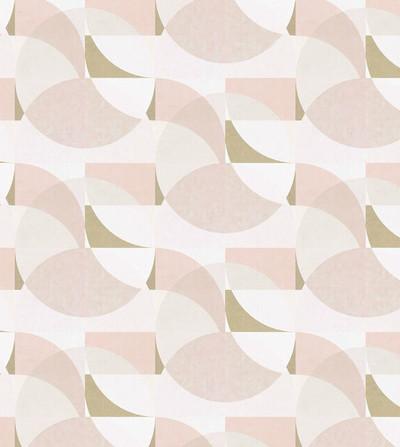 Geometric Circle - Blush Pink / Gold /Cream