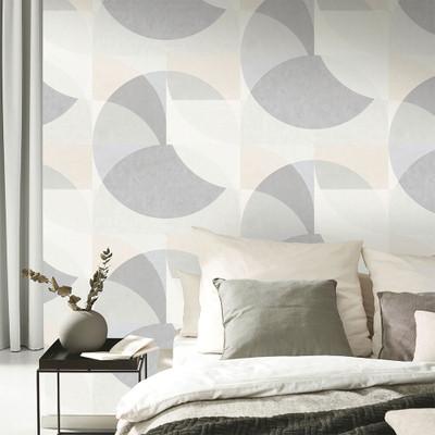 Geometric Circle - Light Grey / Beige