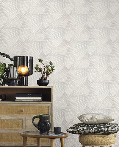 Geometric D Triangle - Light Grey / Cream