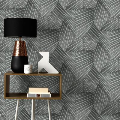 Geometric D Triangle - Black / Silver