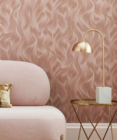 Wave Pattern - Blush Pink