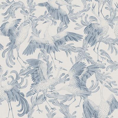 Dancing Crane - Ink Blue / Ivory