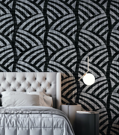 Mural - Zola Geo Black (Per Sqm)