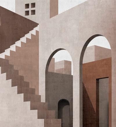Mural - Moroccan City (Per Sqm)
