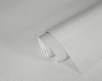 Metallic Maze - White / Silver