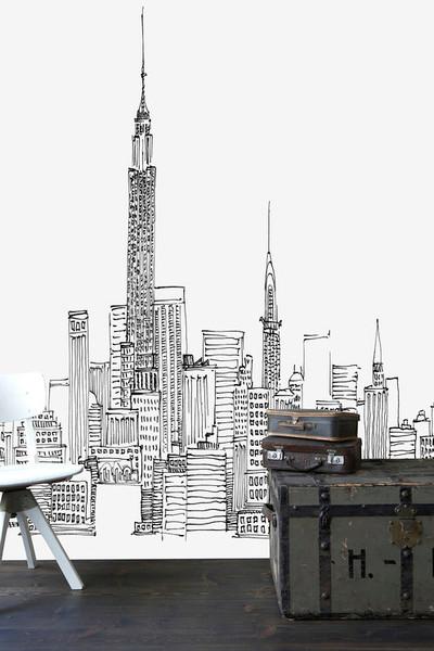 Mural - Avery Tillmon New York Skyline (Per Sqm)