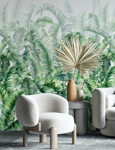 Mural - Swaying Palms Green (Per Sqm)
