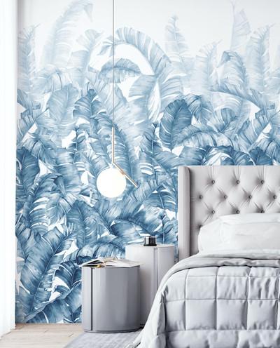 Mural - Swaying Palms Blue (Per Sqm)