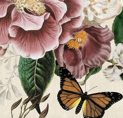 Mural - Fairy Garden Cream II (Per Sqm)