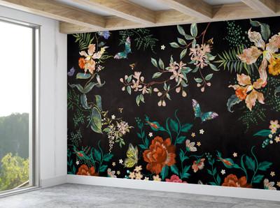 Mural - Embroidery Orange (Per Sqm)
