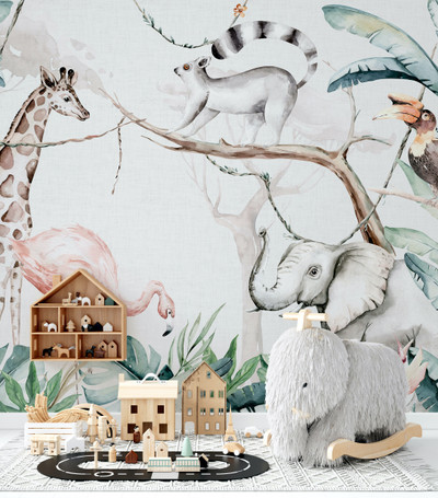 Mural - African Animals (Per Sqm)
