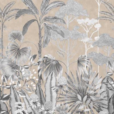 Mural Floreana Black Earth / Gilt (2.74m x 3m)