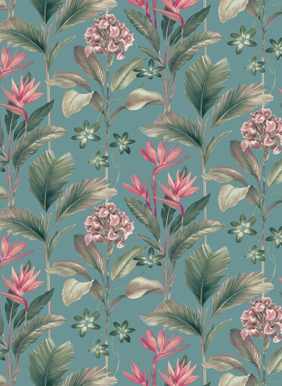 Oliana Floral - Teal