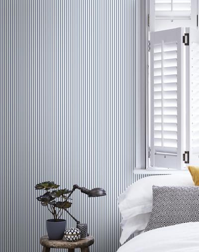 Small Stripe - Blue / White