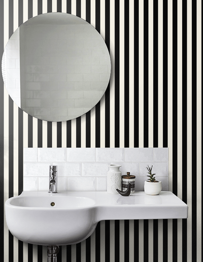 Medium Stripe - Black / Pearl