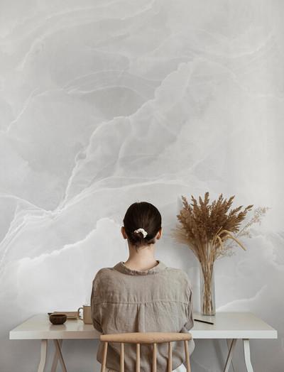 Mural - Marble Breeze Grey (Per Sqm)