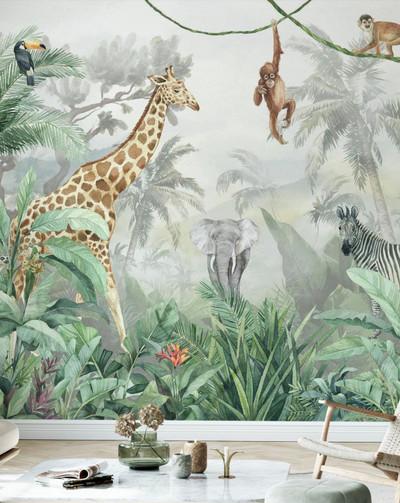 Mural - Jungle Friends II (Per Sqm)