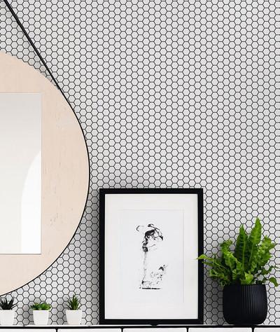 Hexagon Lattice - White