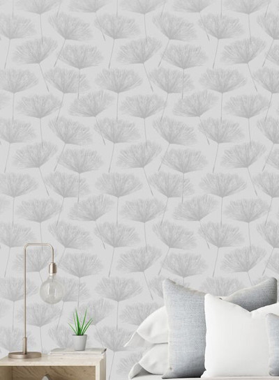 Glistening Fleur - Grey