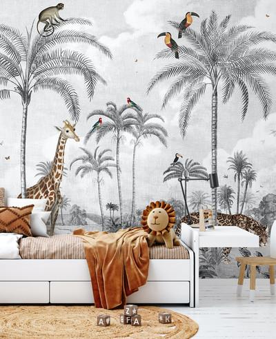 Mural - Wild Vintage Jungle (Per Sqm)