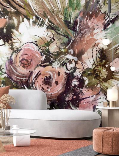 Mural - Graffiti Floral (Per Sqm)