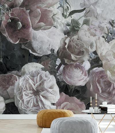 Mural - Ranunculus Flowers (Per Sqm)