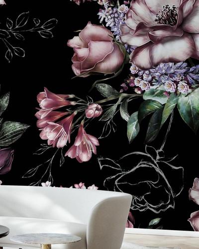 Mural - Goodnight Roses (Per Sqm)