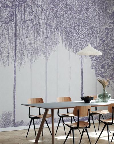 Mural - Trees Cascade Lavender (Per Sqm)