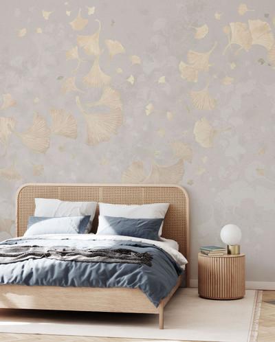 Mural - Ginkgo Leaves Beige (Per Sqm)