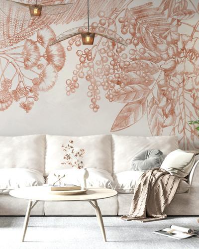 Mural - Wild Fern Coral (Per Sqm)