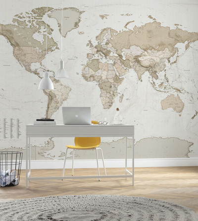 Mural - Earth Map (3.5m X 2.5m) Stock