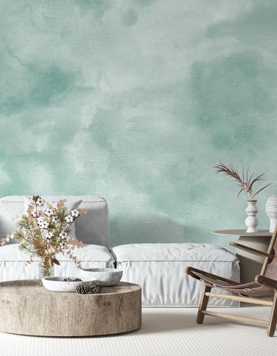 Mural - Fade Aquamarine (Per Sqm)