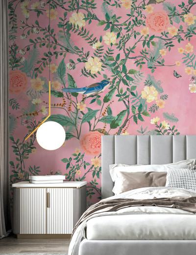 Mural - Enchanted Garden Pink (Per Sqm)