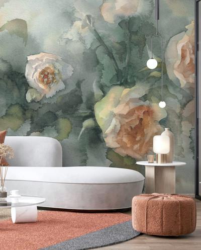 Mural - Watercolour Rose (Per Sqm)