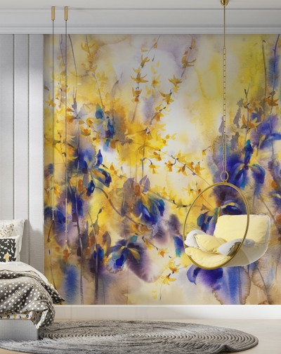 Mural - Violet Spring (Per Sqm)