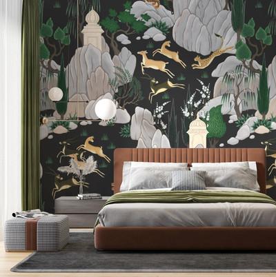 Mural - Hunter Charcoal (Per Sqm)