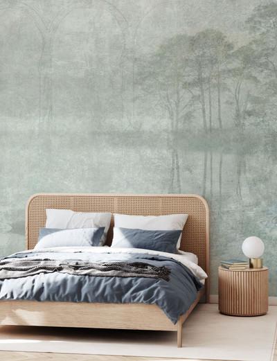 Mural - Reminiscence Swan (Per Sqm)
