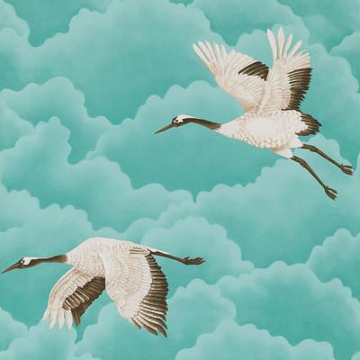 Cranes In Flight - Marine
