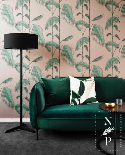 Palm Leaves - Pink & Mint