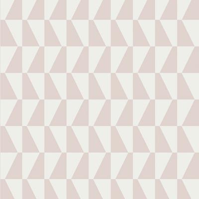 TRAPEZ - PALE PINK & WHITE