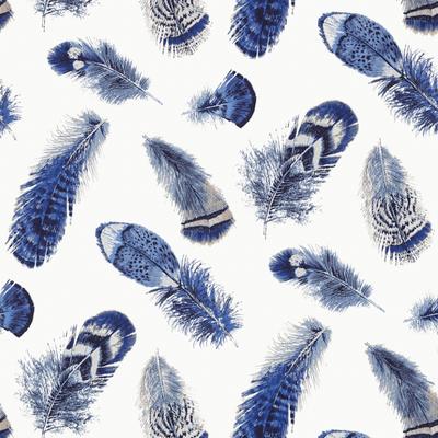 BIRDING - NAVY & WHITE