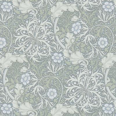 Morris Seaweed - Silver/ecru