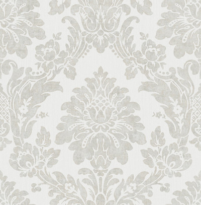String Damask - Grey / Silver