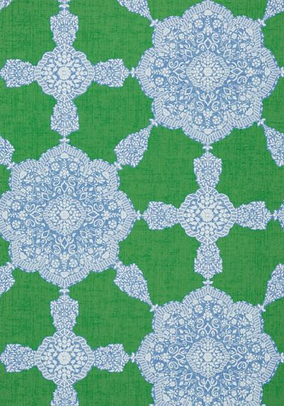 MEDALLION PAISLEY - GREEN / BLUE