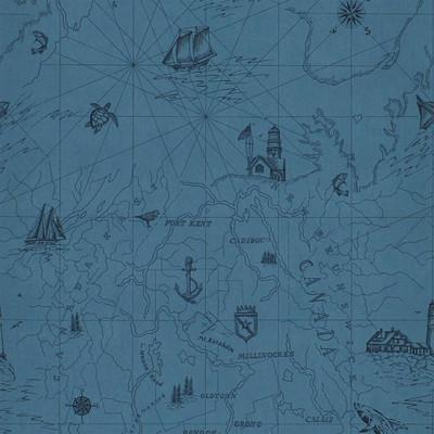 Ralph Lauren Searsport Map - Blue