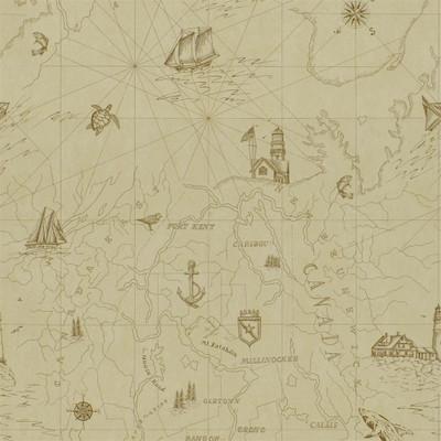 Ralph Lauren Searsport Map - Parchment