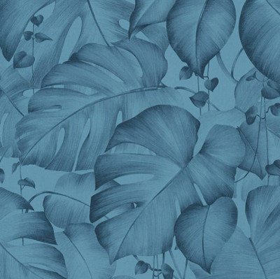 IVY PALM -BLUE ON BLUE