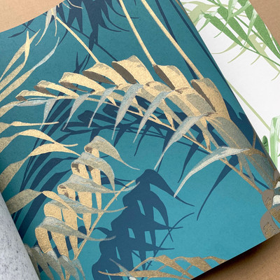 Palm House - Teal / Gold