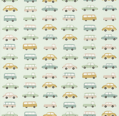 ALL OVER VINTAGE CARS - MINT GREEN