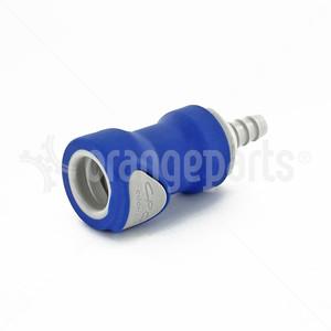 ORANGEPARTS 03441202 CONNECTOR 1/4 INCH 6 MM FEMALE BLUE BWT    BWT 09FBLU6